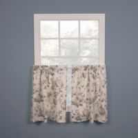 Abigail 24-Inch Kitchen Window Curtain Tier Pair in Porcelain Blue