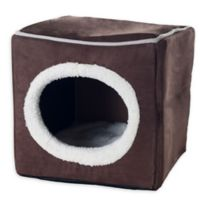 PETMAKER Cave Cat Bed in Dark Tan