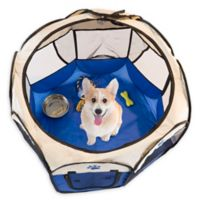 PETMAKER Pop-Up Large Pet Playpen in Blue