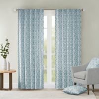 Delray Diamond 42-Inch x 84-Inch Window Curtain Panel in Blue