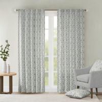 Delray Diamond 42-Inch x 63-Inch Window Curtain Panel in Grey