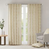 Delray Diamond 42-Inch x 95-Inch Window Curtain Panel in Tan