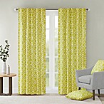 Delray Diamond 42-Inch x 84-Inch Window Curtain Panel in Green