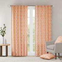 Delray Diamond 42-Inch x 84-Inch Window Curtain Panel in Orange