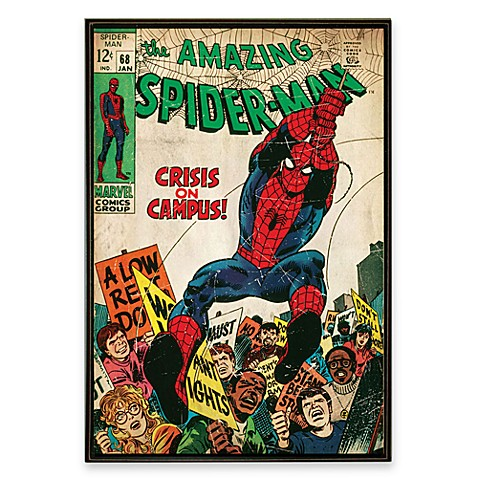 Spider Man Marvel Comic Book Wall Art