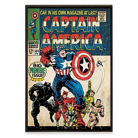 Exceptionnel Captain America Marvel Comic Book Wall Décor Plaque