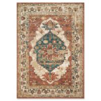 Magnolia Home by Joanna Gaines Evie 5'1 Round Area Rug in Spice/Multi