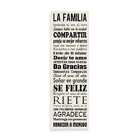 Family Rules Wall Art spanish family rules wall art - bed bath & beyond