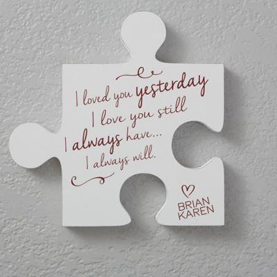 Romantic Quotes 12 Inch Square Puzzle Piece Wall Decor