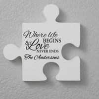 Family Quotes 12-Inch Square Puzzle Piece Wall Décor