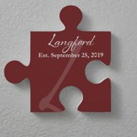 Family Name 12-Inch Square Puzzle Piece Wall Décor