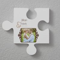 Two Name 12-Inch Square Puzzle Piece Wall Décor