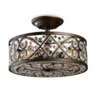ELK Lighting Amherst 4-Light Semi-Flush in Antique Bronze