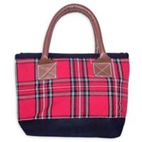 Small Plaid Tote Bag in Red/Black