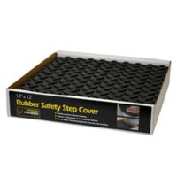"""12-Pack 12"""" x 12"""" Rubber Safety Step Covers in Black"""
