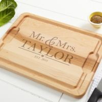 The Wedding Couple 15-Inch x 21-Inch Maple Cutting Board