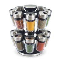 Cole & Mason 16-Jar Spice Rack with Spices