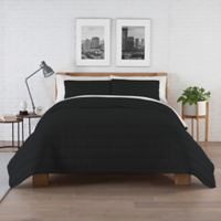 Pure Beech Jersey Twin Xl Comforter Set In Black