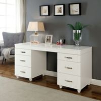 Neo Folding-Top Vanity and Mirror Set in White