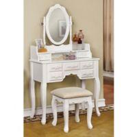 Valeria Vanity Set in White