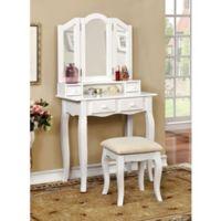 Landers Vanity Set in White