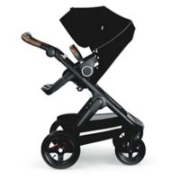 Stokke® Trailz™ Black Frame Stroller with Brown Handle in Black