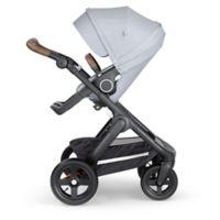 Stokke® Trailz™ Black Frame Stroller with Brown Handlein Grey Melange