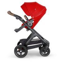 Stokke® Trailz™ Black Frame Stroller with Brown Handle in Red