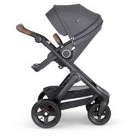 Stokke® Trailz™ Black Frame Stroller with Brown Handle in Black Melange
