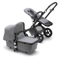 Bugaboo Cameleon3 Plus Classic Collection Complete Stroller in Black/Grey Melange