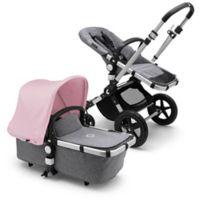 Bugaboo Cameleon3 Plus Complete Stroller in Aluminum/Grey Melange/Soft Pink