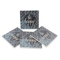 Thirstystone® Dolomite Inspired Watercolors Square Coasters (Set of 4)