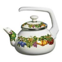 Kensington Garden Porcelain Enamel 2 qt. Tea Kettle