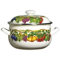 Kensington Garden Porcelain Enamel 5 qt. Covered Casserole