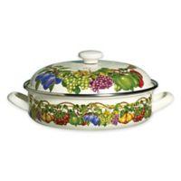 Kensington Garden Porcelain Enamel 4 qt. Low Covered Casserole