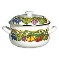 Kensington Garden Porcelain Enamel 5 qt. Covered Casserole