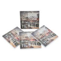 Thirstystone® Dolomite Faith Typography Square Coasters (Set of 4)
