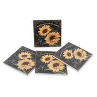 Thirstystone® Dolomite Marche Aux Fleurs Square Coasters (Set of 4)