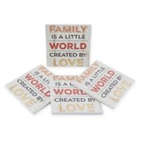 Thirstystone® Dolomite Family Home Love Square Coasters (Set of 4)