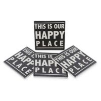 Thirstystone® Dolomite Our Happy Place Square Coasters (Set of 4)