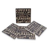 Thirstystone® Dolomite Coffee Quote II Home Square Coasters (Set of 4)