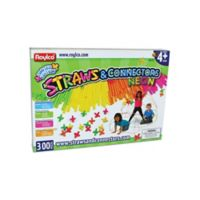 Roylco Straws & Connectors Neon 300-Piece Building Set