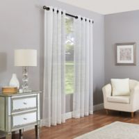 Madeira 108-Inch Grommet Sheer Window Curtain Panel in Pearl