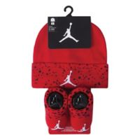 Nike® Jordan Size 0-6M 2-Piece Hat and Bootie Set in Red