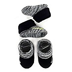 Nike® Size 0-6M 2-Pack Knit Booties in Grey