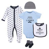 Hudson Baby® Size 6-9M 5-Piece Gentleman Layette Set in White