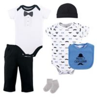 Hudson Baby® Size 6-9M 6-Piece Baseball Layette Set in Blue