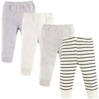 Luvable Friends Size 6-9M 4-Pack Tapered Pants in Beige