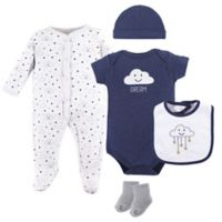 Hudson Baby® Size 6-9M 5-Piece Cloud Layette Set in Blue