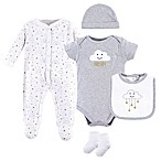 Hudson Baby® 5-Piece Cloud Layette Set in Grey